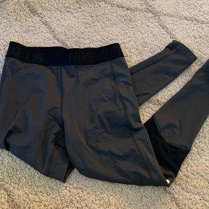 Nike pro grey leggings